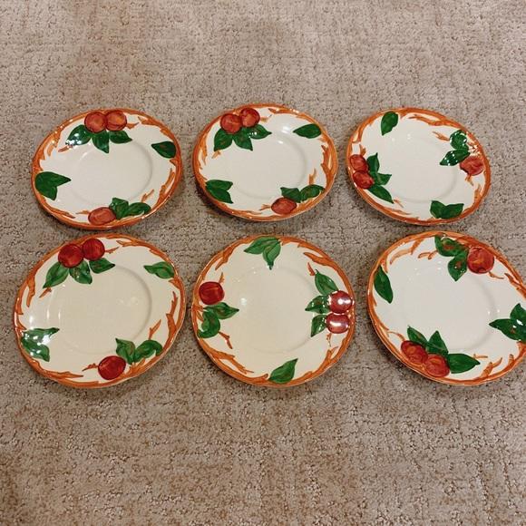 Franciscan Apple Set of 6 Dessert Plates (USA)